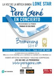 Cartel concierto presentación Boomerang